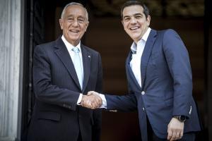 Συνάντηση Τσίπρα με τον Πορτογάλο Πρόεδρο – «Είστε παράδειγμα για την Ελλάδα» [pics]