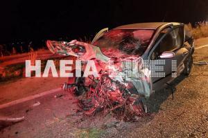 Ηλεία: Σκληρές εικόνες σε φοβερό τροχαίο στην Πατρών Πύργου – Διαλύθηκε ο κινητήρας του αυτοκινήτου [pics]