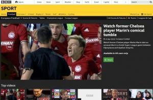 BBC – Μάριν: «Το κωμικό πέσιμο του πρώην μέσου της Τσέλσι» [vid]