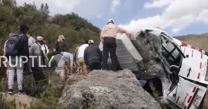 Τραγωδία στο Περού: Μικρό λεωφορείο έπεσε σε χαράδρα 20 μέτρων – 2 νεκροί και 10 τραυματίες