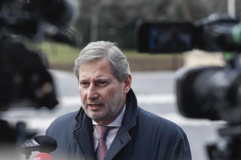 Γιοχάνες Χαν για Σκοπιανό: «Σύντομα η διαφορά στο θέμα του ονόματος με την Ελλάδα θα ξεπεραστεί»
