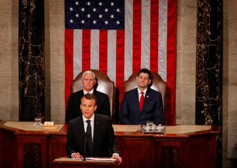 Μακρόν στο αμερικανικό Κογκρέσο: «Δεν θα αποχωρήσουμε από τη συμφωνία για τα πυρηνικά του Ιράν» | Newsit.gr