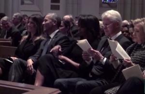 Τα… «γελάκια» Μελάνια – Ομπάμα στην κηδεία της Μπάρμπαρα Μπους – Τους τα «έκοψε» η Μισέλ [pics, vid]
