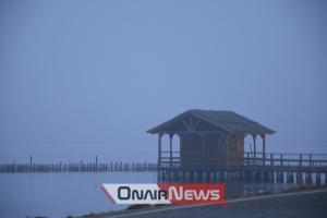 Τοπίο στην ομίχλη το Μεσολόγγι [pics]