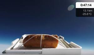 Έστειλαν σκορδόψωμο στο Γεωδιάστημα και όταν γύρισε το έφαγαν