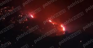 Πύρινη κόλαση στην Ηλεία: Μαίνεται η μεγάλη πυρκαγιά στη Φρίξα Κρεστένων – Μάχη με φλόγες και μποφόρ