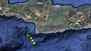 Χορός των Ρίχτερ στην Κρήτη – Πάνω από 15 σεισμοί σε μια μέρα