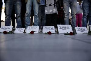 Συγκέντρωση διαμαρτυρίας στο Σύνταγμα για τους νεκρούς μετανάστες στο Αγαθονήσι [pics]
