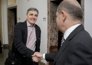 Σε καλό κλίμα η συνάντηση Τσακαλώτου – Σολτς – Το tweet… ελπίδας του γερμανικού ΥΠΟΙΚ