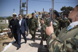 Το μήνυμα Τσίπρα στους στρατιώτες της Διοίκησης Άμυνας στο Καστελόριζο
