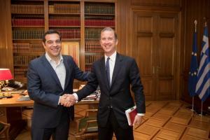 Συνάντηση Τσίπρα με την ιταλική εταιρεία φυσικού αερίου SNAM – Στο «επίκεντρο» η επένδυση του ΔΕΣΦΑ