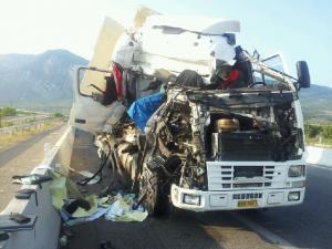 Σύγκρουση φορτηγών στην Εγνατία – Δύο τραυματίες