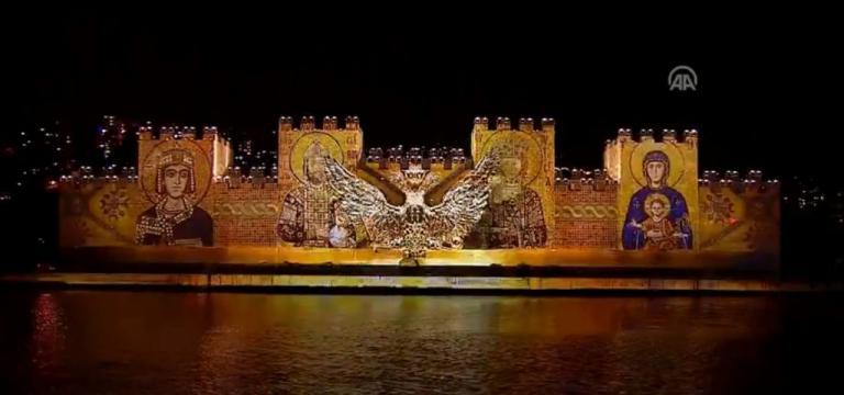 Άλωση της Κωνσταντινούπολης: Τα τείχη γκρεμίζονται, η Παναγία στις φλόγες! Το προκλητικό υπερθέαμα Ερντογάν | Newsit.gr
