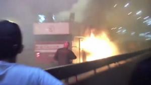Παίκτης του Ερυθρού Αστέρα έβαλε φωτιά στο πούλμαν της ομάδας! [vids]
