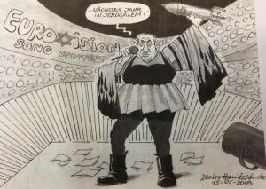 Σάλος με την γελοιογραφία της Sueddeutsche Zeitung: Ο Νετανιάχου… στη Eurovision [pic]