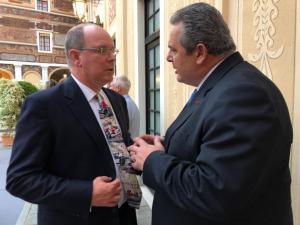Στο παλάτι των Γκριμάλντι ο Πάνος Καμμένος: Έγινε η συνάντηση με τον πρίγκηπα Αλβέρτο στο Μονακό [pic]