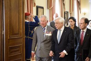 Live: Λεπτό προς λεπτό η επίσκεψη του Πρίγκιπα Καρόλου και της Καμίλα στην Ελλάδα
