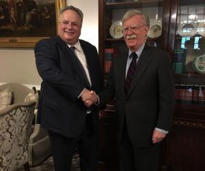 Κοτζιάς – Μπόλτον: Συζήτησαν για Τουρκία, Σκοπιανό, ενεργειακά και επενδύσεις