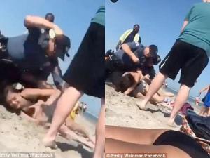 Τη χτυπούσαν ανελέητα στο κεφάλι – Αδιανόητη αστυνομική βία on camera [vid]