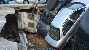 Νέα… κατάρρευση στο πάρκινγκ στην Καλλιθέα – Φάνηκε η όχθη του Ιλισσού! Η υπόγεια διαδρομή θα δείξει τι έφταιξε