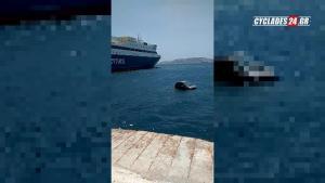 Μύκονος: Αυτοκίνητο βούτηξε στη θάλασσα και επέπλεε! [vid]