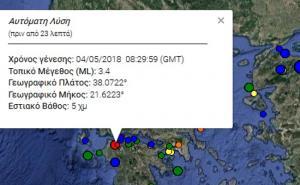 Σεισμός στην Πάτρα – Ταρακουνήθηκαν περιοχές της Αχαϊας και της Ηλείας [pic]
