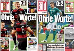 """Μουντιάλ 2018: Γερμανία """"χωρίς λόγια""""! """"Ιστορική ντροπή"""" με πρωτοσέλιδο… Βραζιλίας [pics]"""