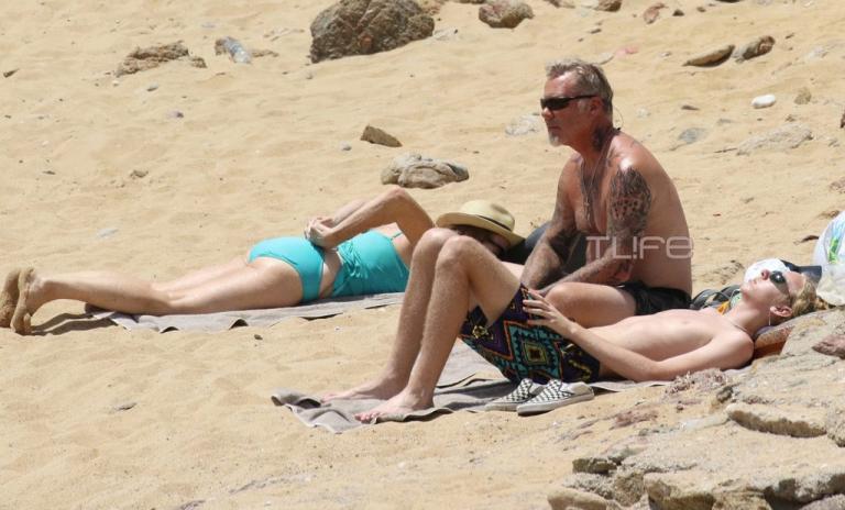 Ο frontman των Metallica, James Hetfield, με τα παιδιά του στη Μύκονο! [pics] | Newsit.gr