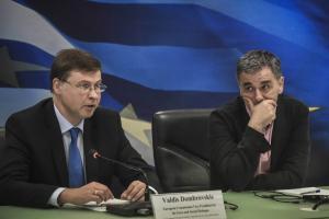 Ντομπρόβσκις: Δεν θα υπάρξουν άλλες δεσμεύσεις για την Ελλάδα μετά το μνημόνιο