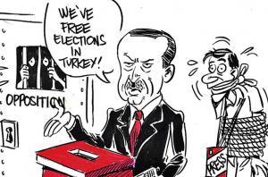 Τουρκία Εκλογές: Το συγκλονιστικό σκίτσο του Latuff με τον «τρομοκράτη» Ερντογάν [pic]
