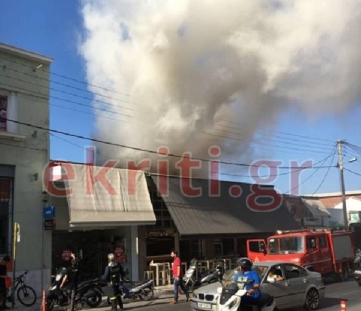 Καπνός «έπνιξε» ολόκληρη γειτονιά στα Χανιά [pics] | Newsit.gr