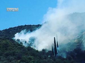 Φωτιά στον Γαλατά Τροιζηνίας – Διάσπαρτα σπίτια στην περιοχή