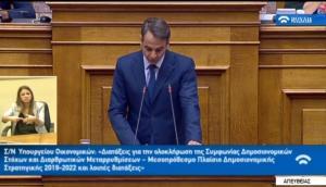 Ο Κυριάκος Μητσοτάκης ανακοίνωσε πρόταση μομφής