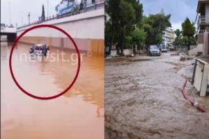 Μάνδρα: Ταλαιπωρία και μεγάλα προβλήματα στις Εθνικές Οδούς! Οδηγός εγκλωβίστηκε στον Κόμβο Παραδείσου
