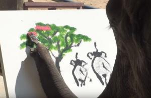 Ποιος είπε ότι οι ελέφαντες δεν ζωγραφίζουν…