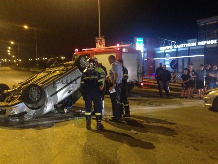 Πάτρα: Σοβαρό τροχαίο με ανατροπή αυτοκινήτου – Τρεις τραυματίες [vid] | Newsit.gr