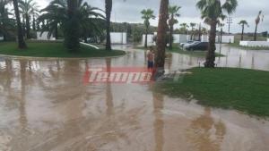 Πλημμύρισε ξενοδοχειακή μονάδα στη Λακκόπετρα – Τεράστιες καταστροφές στη Δυτική Αχαΐα [pics]