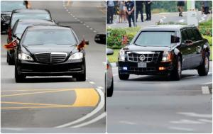 Τα… θηρία των Τραμπ – Κιμ Γιονγκ Ουν! Δέος από τις αυτοκινητοπομπές! [pics]
