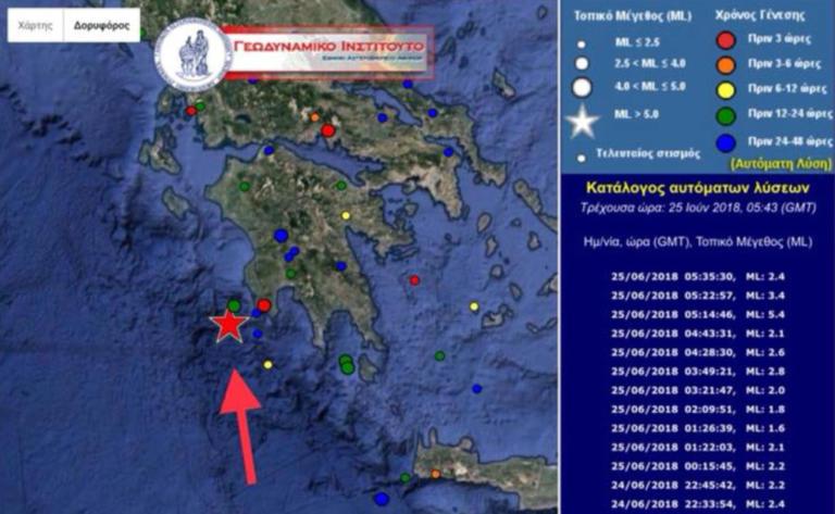 Ισχυρός σεισμός αναστάτωσε την Πύλο – Έγινε αισθητός έως την Πάτρα
