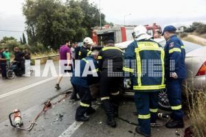 Τροχαίο Πατρών – Πύργου: Καραμπόλα με τραυματίες και εικόνες που κόβουν την ανάσα [pics]