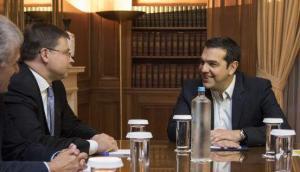 Συνάντηση Τσίπρα με τον Βάλντις Νομπρόβσκις στο Μαξίμου