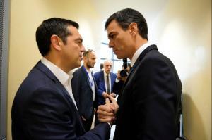 Συγχαρητήρια Σάντσεθ στον Τσίπρα για τη συμφωνία με την πΓΔΜ