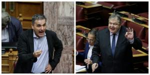 «Χοντρή» κόντρα Τσακαλώτου – Βενιζέλου στην Βουλή – «Έχετε σηκώσει και τα πόδια ψηλά» [vid]