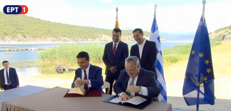 Live – Πρέσπες: Η υπογραφή της συμφωνίας Ελλάδας – Σκοπίων | Newsit.gr