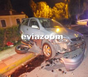 Χαλκίδα: Ανατριχιαστικός θάνατος νεαρού οδηγού – Η μηχανή του σφήνωσε κάτω από το αυτοκίνητο [pics, video]