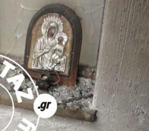 Ραφήνα: Αυτή είναι η εικόνα της Παναγίας που έμεινε όρθια – Δάκρυα συγκίνησης στα χαλάσματα [pics]