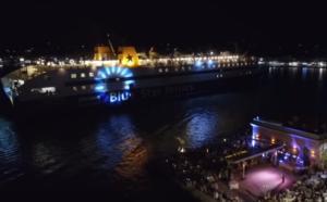Χίος: Η μανούβρα του καπετάνιου καταγράφηκε από drone – Οι εικόνες στο λιμάνι του νησιού – video