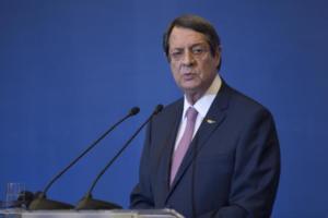 Αναστασιάδης για Κυπριακό: Οι διαπραγματεύσεις πρέπει να επαναρχίσουν από εκεί όπου είχαμε μείνει και στο πλαίσιο Γκουτέρες