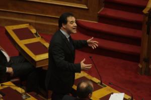 Άδωνις Γεωργιάδης: Ο κ. Τσίπρας κοροϊδεύει την κοινωνία – Παραμύθια της Χαλιμάς τα περί αποστασίας