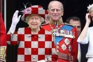 Μουντιάλ 2018: Επικό ποστάρισμα από Λιβάγια! Έντυσε τη Βασίλισσα της Αγγλίας στα χρώματα της Κροατίας! [pic]